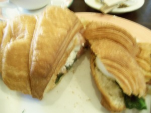 Ode to bacon, spinach, and egg croissant